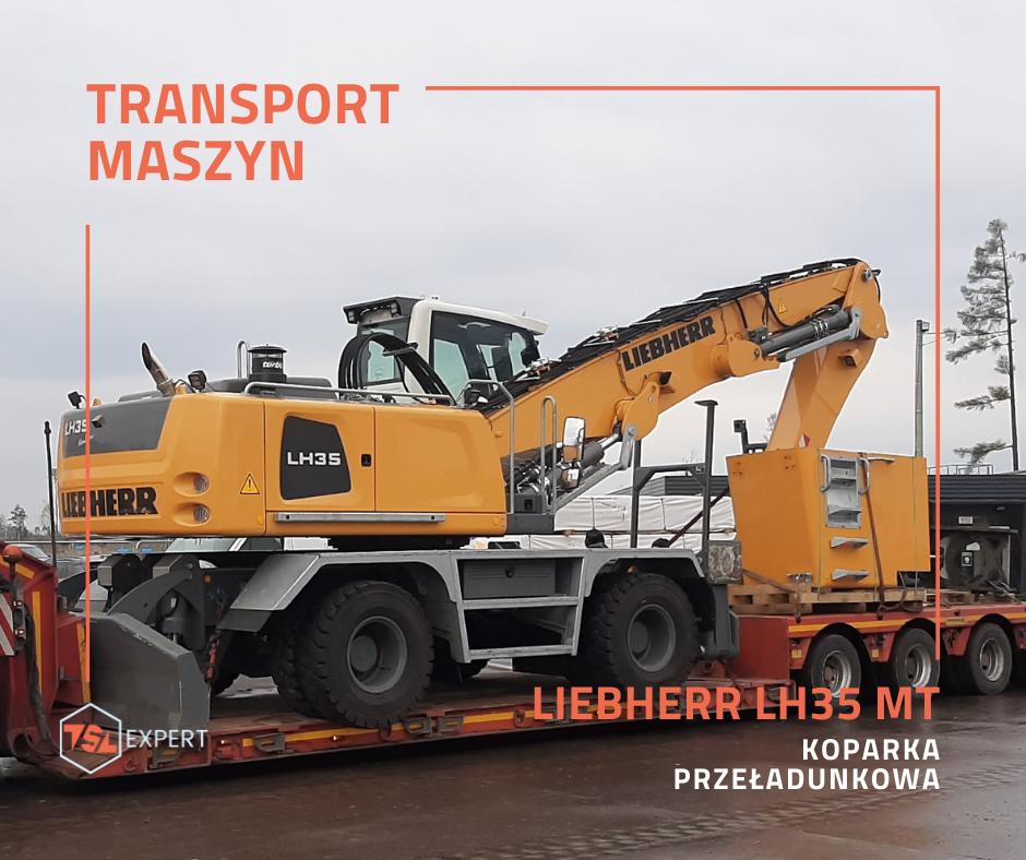 Transport koparki Liebherr LH35 MT