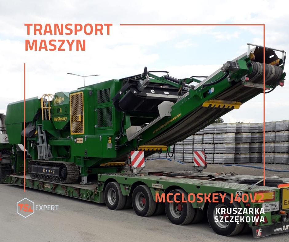 Transport kruszarki Mccloskey J40V2